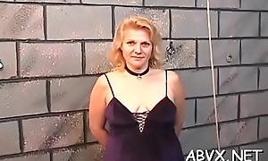 Fat nuisance grown-up unusual moments of coarse amateur bondage