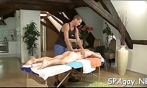 Shunned homosexual palpate session with rasping anal riding