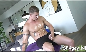 Hairy chap gets a lusty anal spooning from masseur