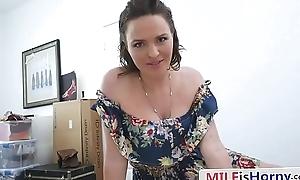 Curvy MILF Riding Stepson'_s Big Cock - Krissy Lynn