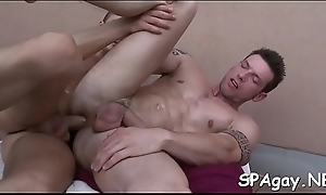 Elegant twink is delighting hunk with wet a-hole ass drilling