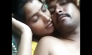 Indian Fit together Kiss Her Husband