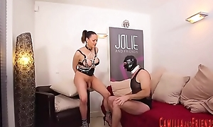 Shemale mistress receives a bj