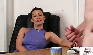 Office femdom instructs take no action round fuck up a fool about till cum