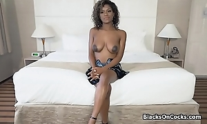 Busty sinister handsomeness Lola oiled to drag inflate dick