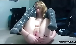 Sexy nerdy little Florence Nightingale anal fake penis to orgasm. More camgirl out of reach of asscorecums.online