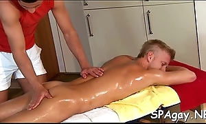 Ravishing twink receives his lewd anal canal thrashed by hunk