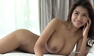 Big boobs on Thai non-specific creampie