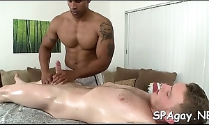 Being added to okay of a male effeminate massage innings