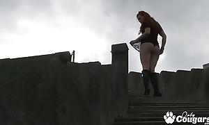 Beautiful Barbara Barberue Pulls The brush Panties Alongside The brush Pussy