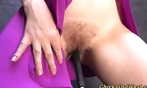 Masturbating amateur pees