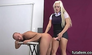 Nubiles ream lovers anal hole with huge strapons and splash load