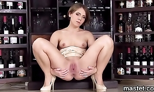 Horny czech nympho gapes her spread twat to put emphasize special
