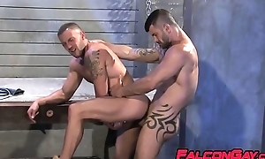 Rimming and banging connected with tattooed husky gays