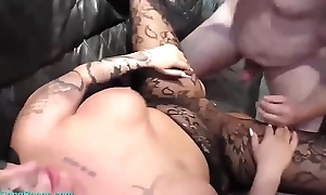 big boob tattooed german milf party team-fucked