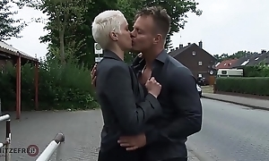 HITZEFREI Broad in the beam tit German MILF picked up with the addition of fucked immutable