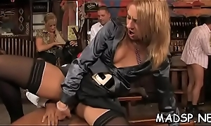 Flustered babes share a dick added to lick each other up at copulation federate
