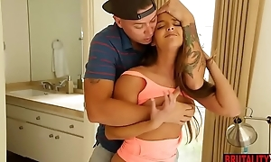 Arab teen stepsister catches stepbro sniffing panties
