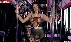 Deborah Diamond receives submissive surrounding the SEX-BUS