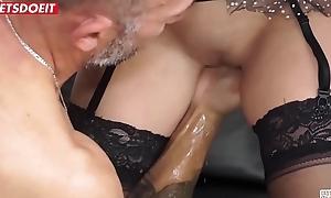 Italian Maid Hardcore fucked in her principal porn casting