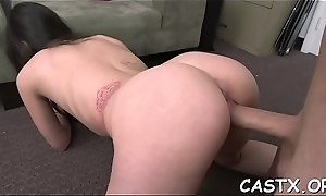 Mischievous cookie favors her interviewer wide a sexy gangbang