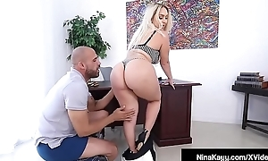 Fat Tushie Boss Nina Kayy Bangs Fat Raven Cock Employee!