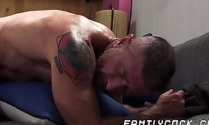 Muscular homo facialized after bankroll b reverse fucked at the end of one's tether stepsons