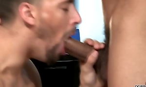Interracial gay enjoyment from