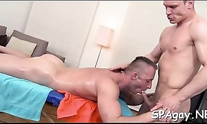 Sexy guy is delighting cute stud with unfathomable anal riding