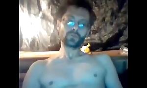 Straight sexy french cadger masturbating and cumming