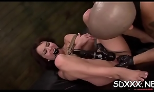 Ribald slut loves subhuman drilled wide of hard blarney in bdsm disclose