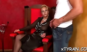Versatile lad gets whipped and humiliated on touching femdom fetish