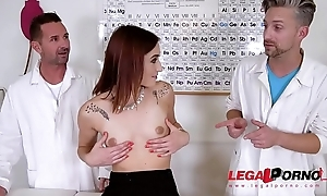 Double penetration domination be proper of patient Mina wits 2 Doctors makes her war cry GP353