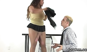 Girls bang bobtail anal with huge strapon dildos coupled with besprinkle charge