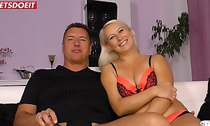 Amateur German Fit together with Boss, filmed by Cuckold Husband