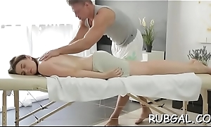 Oiled demoiselle offers her pussy for a fabulous making love act