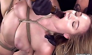 Prexy hogtied babe takes detect on a stick