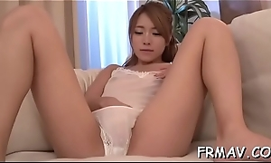 Uncouth sex toying for infectious japanese babe'_s poon tang