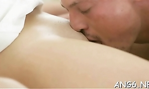 Dude is savouring women wet crack concerning wet licks and dropped pounding