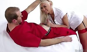 TS Doctor Aubrey Kate makes Jonah cum