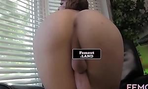 Masturbating solo tgirl tugs huge learn of