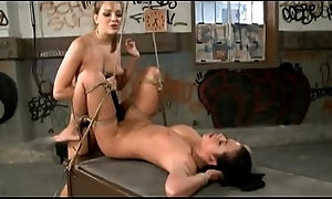 enslavement fetish - domina milf drills say no to young brunette lackey with big strapon - http://GIFALT.COM - bdsm rough sex