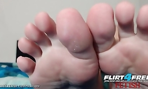 Flirt4Free Foot Good-luck piece Compilation of Chap-fallen Web camera Babes