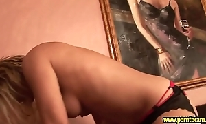 Mom fucks say no to daughter with the strap-on and makes say no to enjoy
