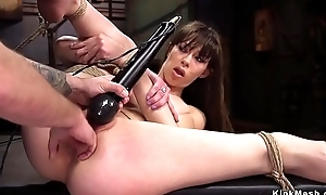 Slut receives fisted and anal group-fucked