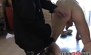 Homo cooks ass bang unadaptable after prepping the kitchen