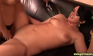 Milf lesbian babes with huge boobs lick themselves thither anent orgasm