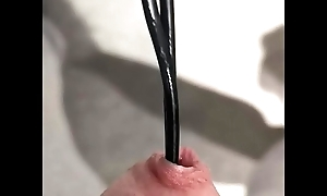 Urethral sound approximately cable 13 inches deep!