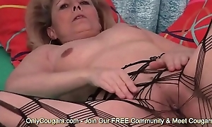 Grandma Puts On A Sexy Striptease In Naughty Underthings