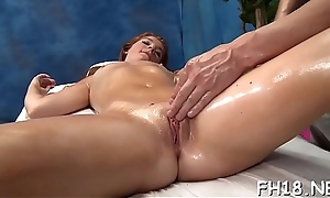 Sexy lickerish receives a cunt massage exhausted enough fucked hard!